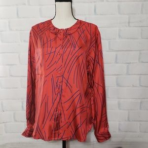 See by Chloe 100% silk button down blouse
